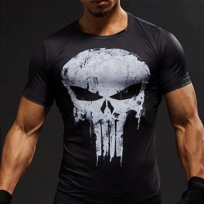T-shirt Caveira Preta