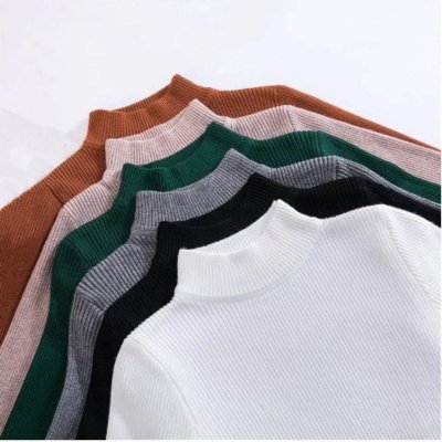 Tricô Gola Alta - 8 cores