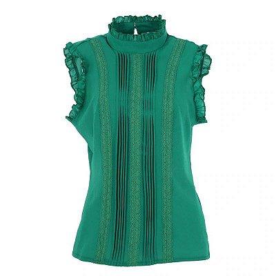 Blusa Detalhe Plissado - 5 cores