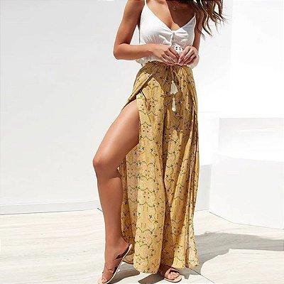 Calça Pantalona Estampa Floral