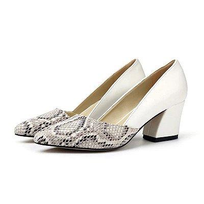 Sapato Snake Salto Grosso - 2 cores