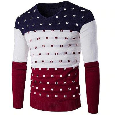 Suéter Masculino Gola V - 5 cores