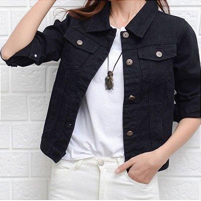 Jaqueta Jeans Bolsos - 4 cores