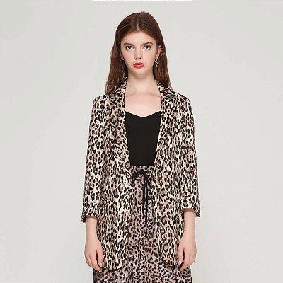 Blazer Longo Leopardo