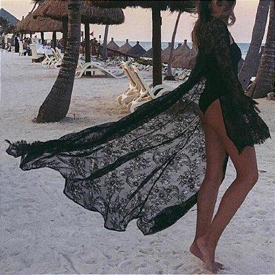 Saída de Praia Transparente - 2 cores