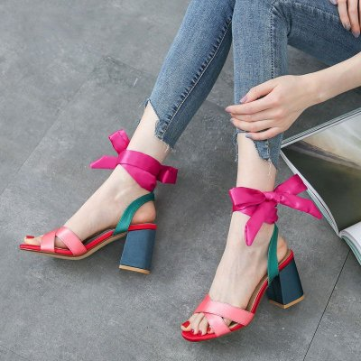 Sandália Color Blocking