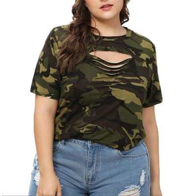 T-shirt Camuflada Plus Size