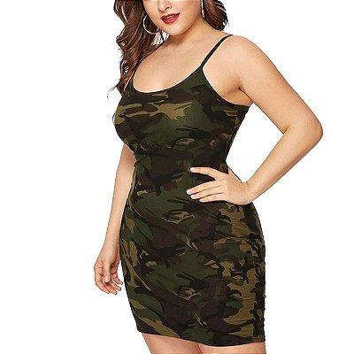 Vestido Camuflado Plus Size