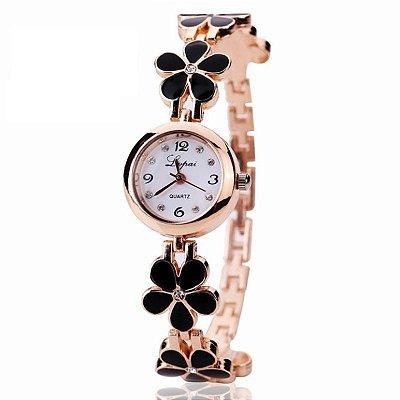 Relógio Pulseira Flores - 3 cores