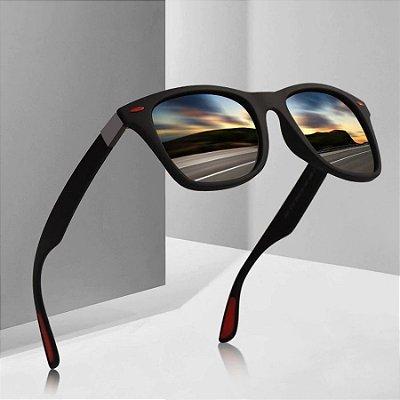 Óculos de Sol Detalhe Vermelho - 2 cores
