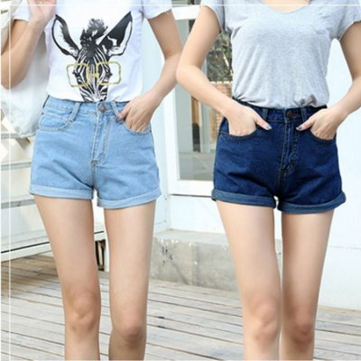 Short Jeans Casual - 2 cores