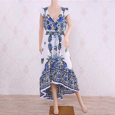 Vestido Maxi Acinturado