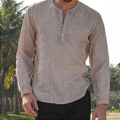 Camisa Casual Manga Longa - 3 cores