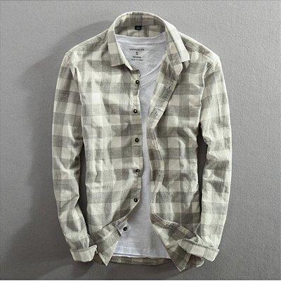 Camisa Xadrez Manga Longa - 3 cores