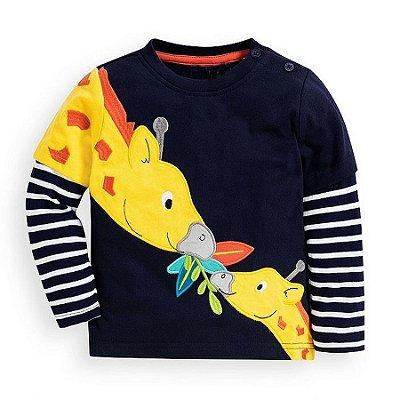 Blusa Manga Longa Girafas