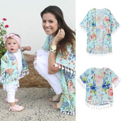 Kimono Florido Mãe e Filha