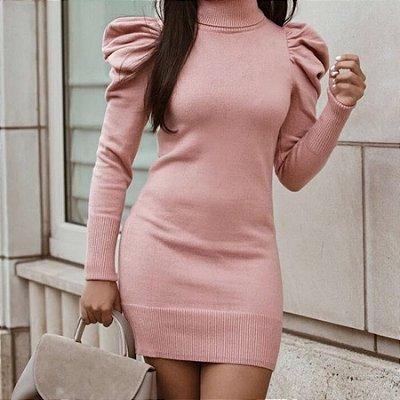 Vestido Tubinho Manga Longa - 2 cores