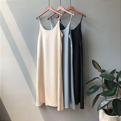 Vestido Fluido Midi - 3 cores