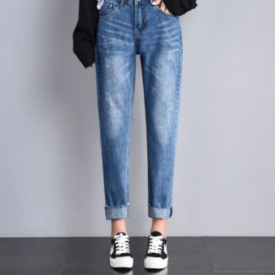 Mom Jeans Detalhes Desfiados - 2 cores