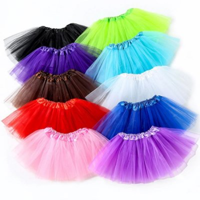 Saia Tutu Princesa Girls - 8 cores