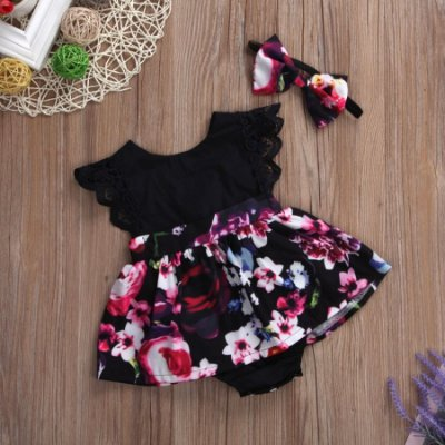 Vestido Body Flowers Baby