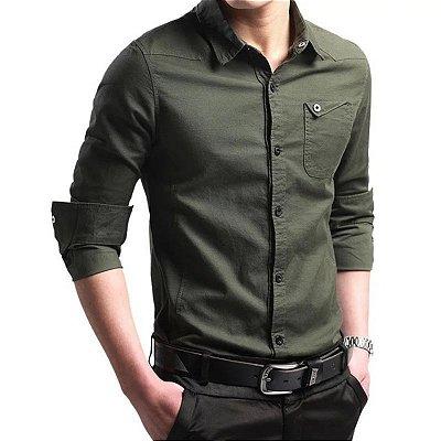 Camisa Basic com Bolso - 7 cores