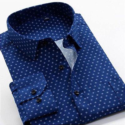 Camisa Social Estampada Plus Size - 2 cores