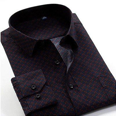 Camisa Social Chiffon Plus Size