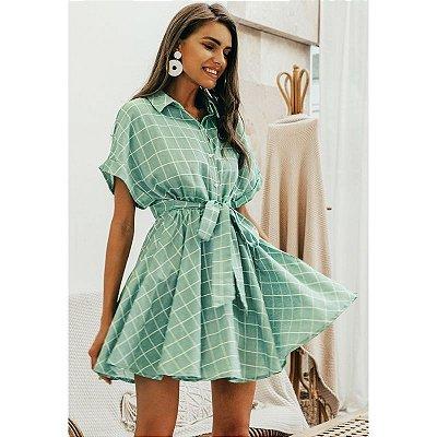 Vestido Xadrez Verde