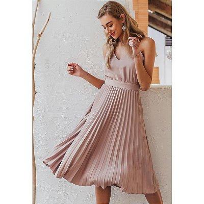 Vestido Saia Plissada - 2 cores