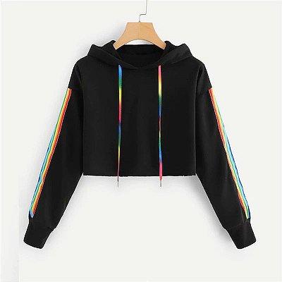 Moletom Cropped Rainbow - 2 cores