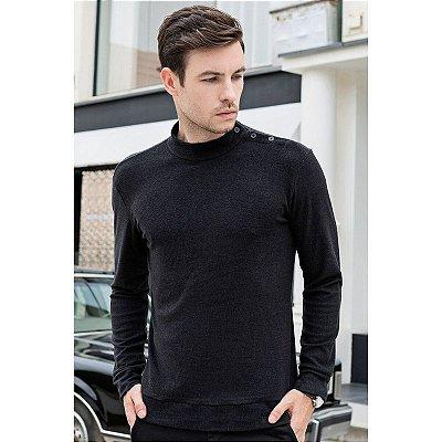 Suéter Detalhe Botões - 4 cores