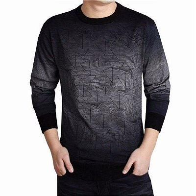 Suéter Estampa Geométrica - 3 cores