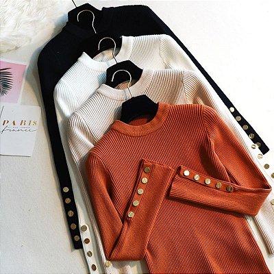 Suéter Detalhe Dourado - 6 cores