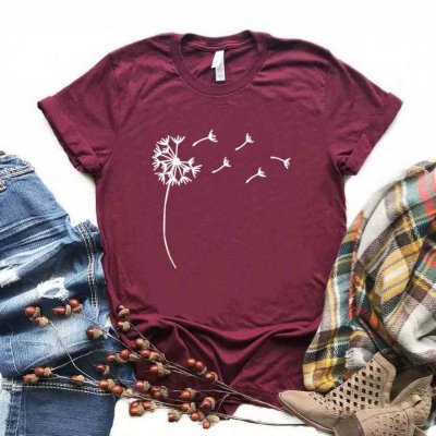 T-shirt Flower - 6 cores