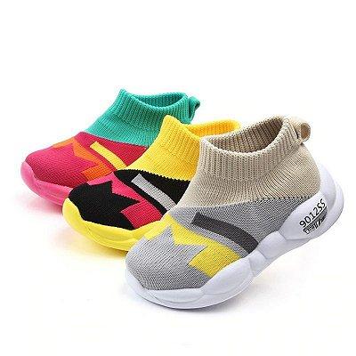 Tênis Colorblock - 3 cores