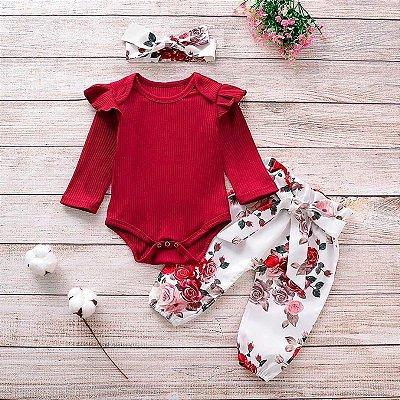 Conjunto com Calça Floral