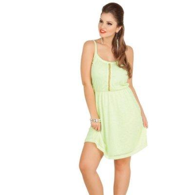 Vestido Verde Fluorescente