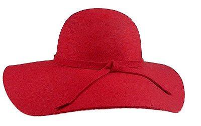 Chapéu Floppy Aveludado Vermelho