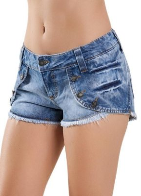 Short Jeans Azul Curto