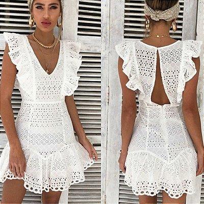 Vestido Off White Vintage