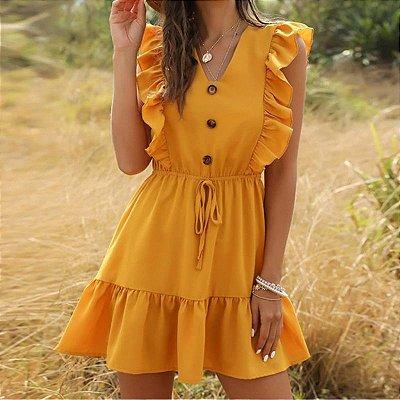 Vestido Solto com Babados - 4 cores