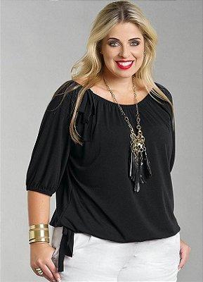 Blusa Feminina Plus Size Preta