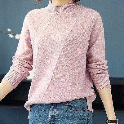 Suéter Detalhe Trançado - 7 cores