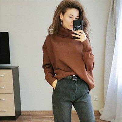 Suéter Vintage Gola Alta - 3 cores
