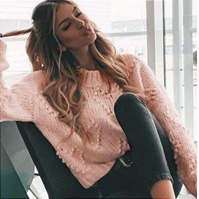 Suéter Tricot Corações - 2 cores