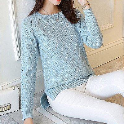Suéter Detalhe Losangos - 6 cores
