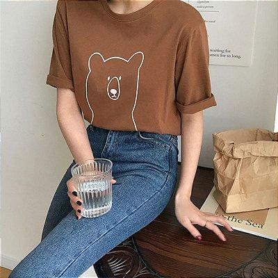Blusa Básica Urso - 2 cores