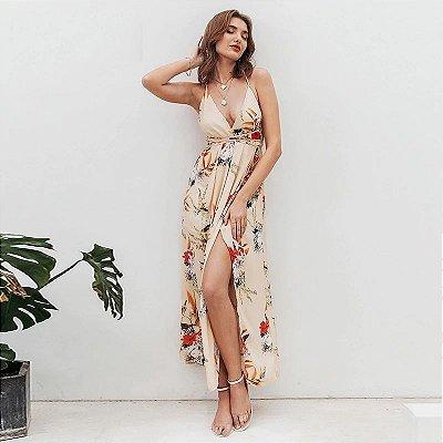 Vestido Floral Alça Transpasse - 4 cores