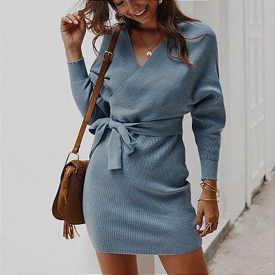Vestido Amarração com Transpasse - 5 cores